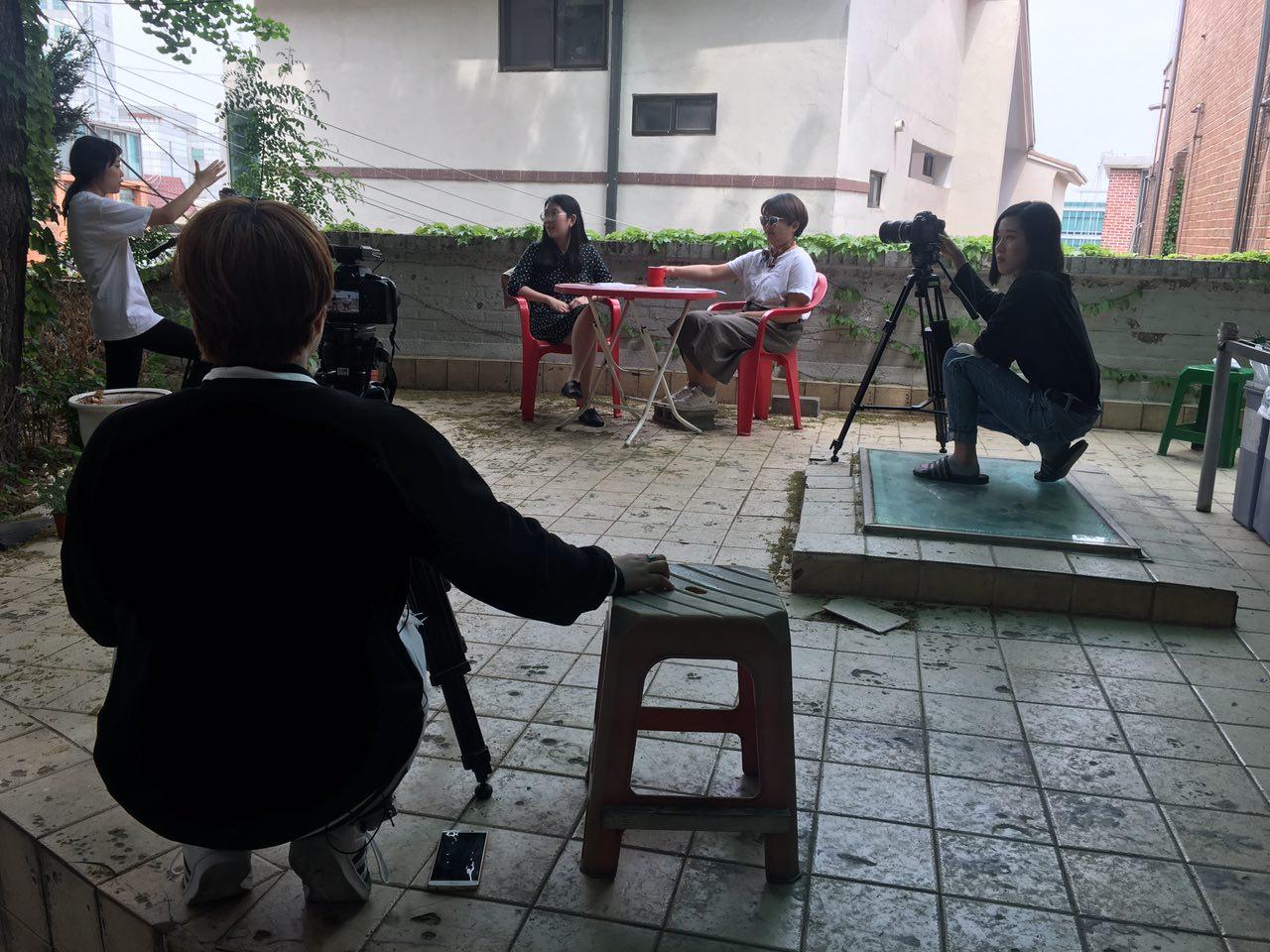 '(활동펼치기) 자원활동가 인터뷰 영상 촬영 그리고 썬구리'의 대표이미지