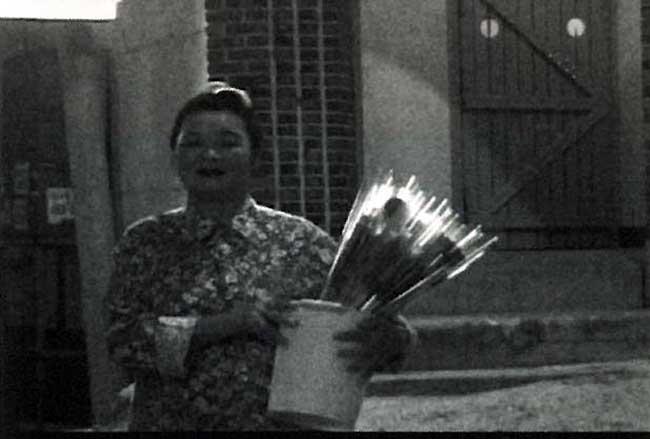 꽃 파는 할머니의 스틸사진